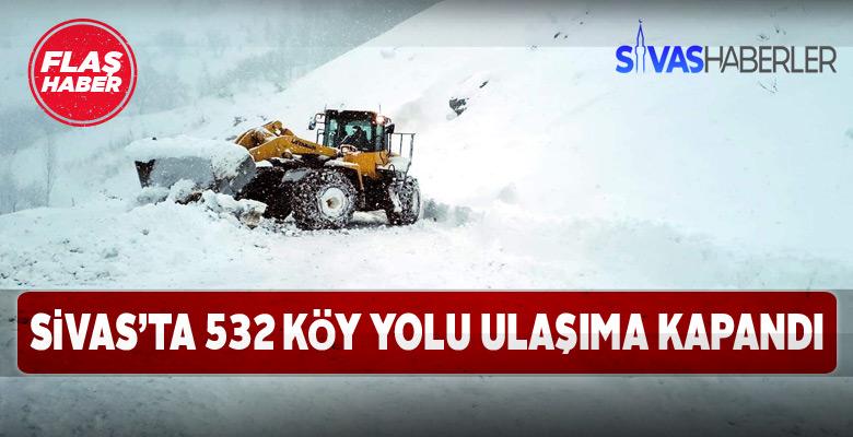 Kar yağışı sebebiyle 532 köye ulaşım yapılamıyor