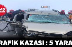 Sivas-Ankara karayolunda kaza: 5 yaralı