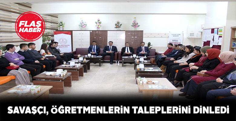 Sivas İl Milli Eğitim Müdürü Zara'da öğretmenlerle bir araya geldi