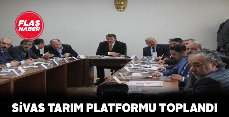 Sivas'ta tarıma dair konular görüşüldü