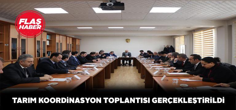 Sivas'ta tarımsal faaliyetler masaya yatırıldı