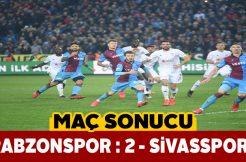 Sivasspor Trabzon deplasmanından 2-1 mağlubiyetle ayrıldı