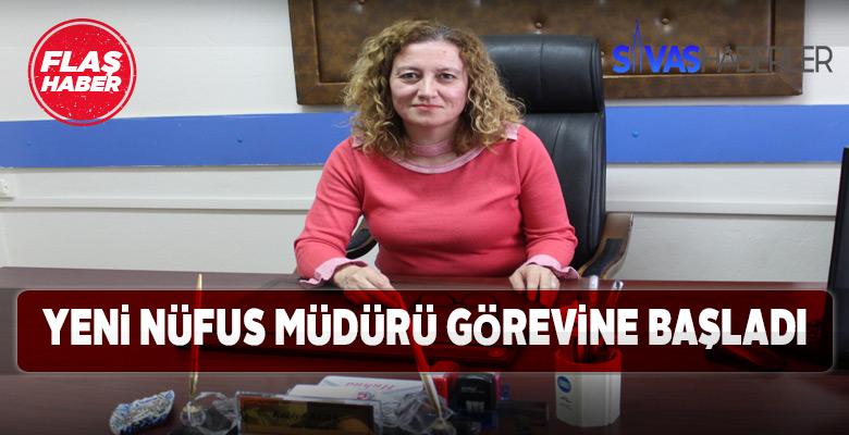 Gemerek yeni Nüfus Müdürü Rabiye Berk mesaiye başladı