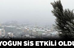 Sivas'ın dört bir yanını sis kapladı