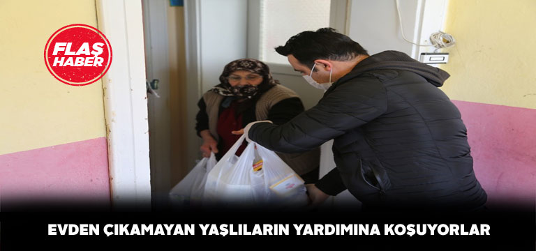 Sivas'ta yaşlıların alışverişini gençler üstleniyor
