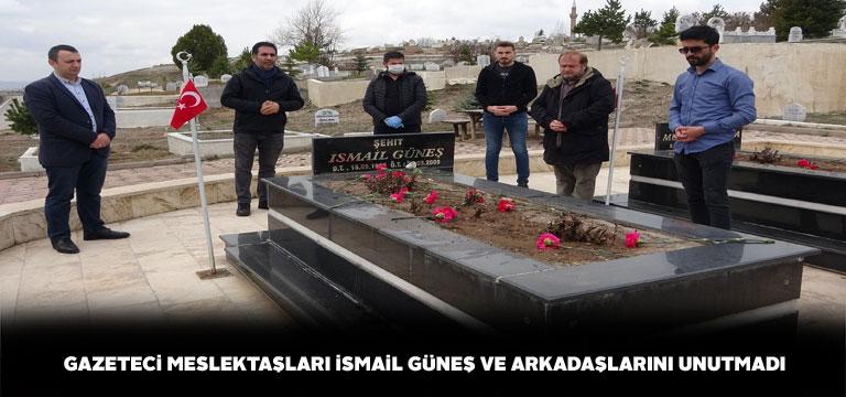 Şehit gazeteci İsmail Güneş mezarında anıldı