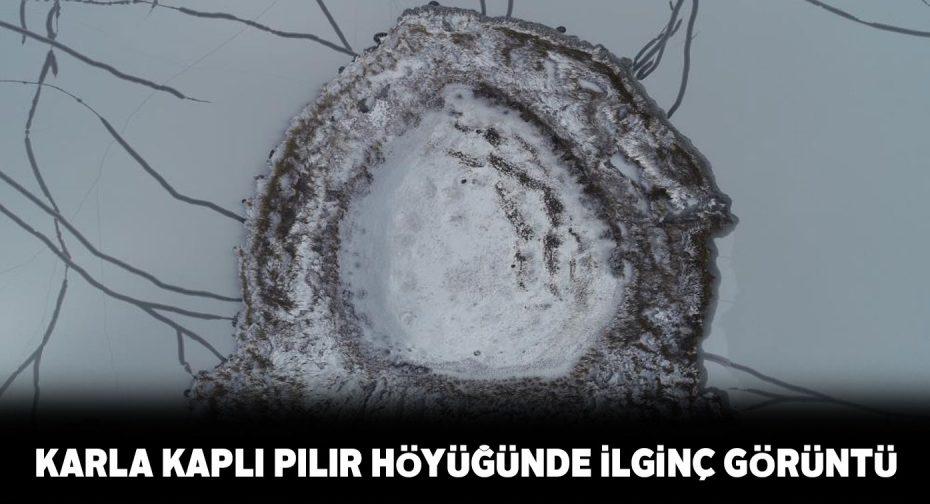 Hafik gölünde bulunan Pılır höyüğü havadan görüntülendi