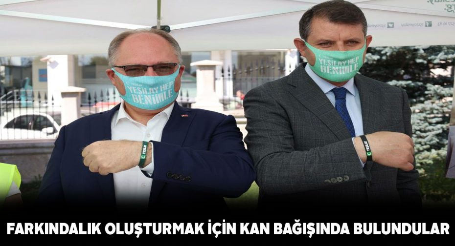 Vali ve Belediye Başkanı'ndan Kızılay'a kan bağışı
