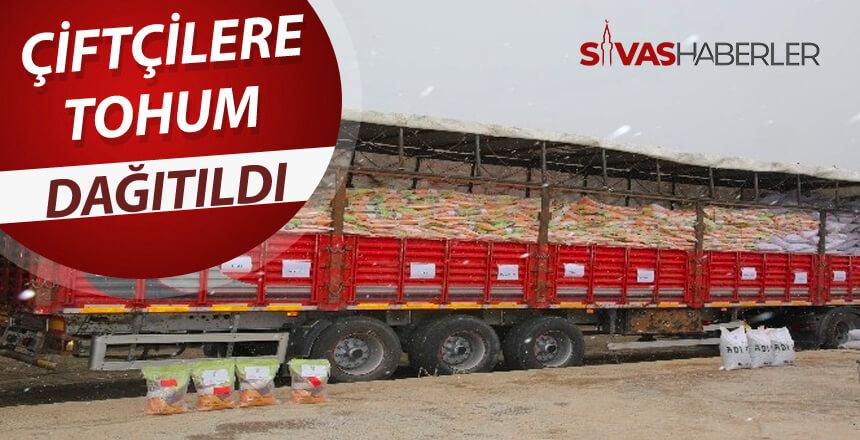 Çiftçilere Sivas'ta tohum dağıtıldı