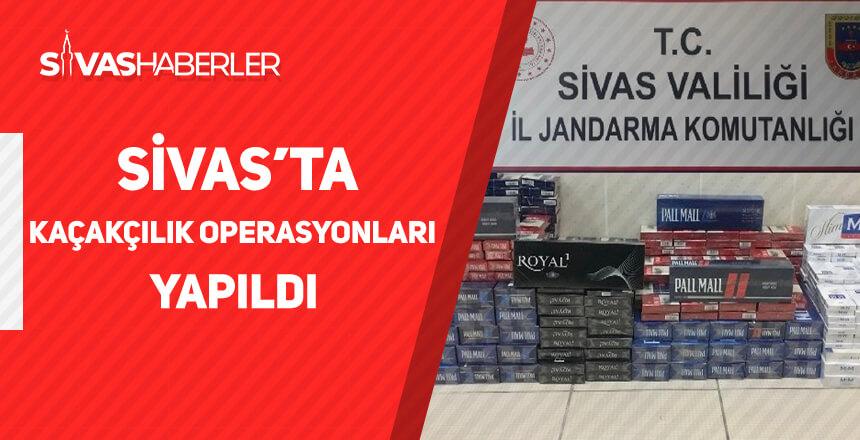 Sivas'ta Kaçakçılık Operasyonları Yapıldı