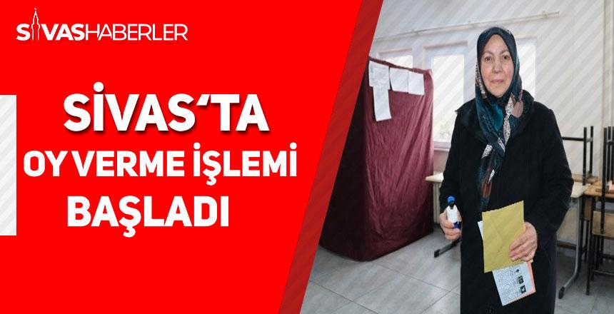 Yerel seçim için Sivas'ta oy verme işlemi başladı