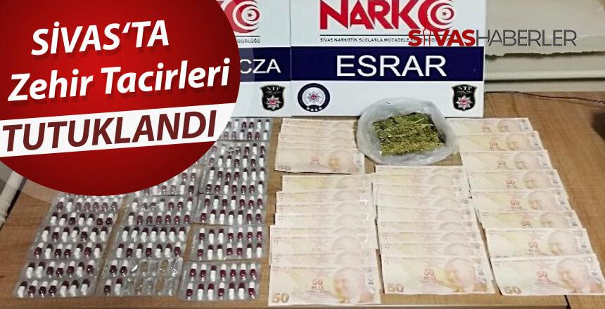 Zehir tacirleri Sivas'ta tutuklandı