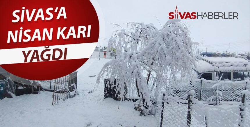 Sivas'a Nisan karı yağdı
