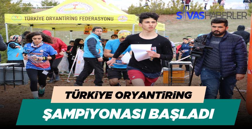 Türkiye Oryantiring Şampiyonası Sivas'ta başladı