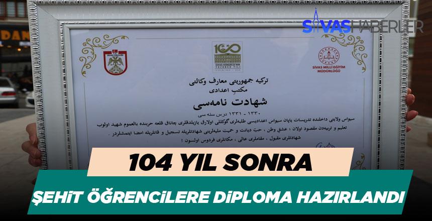 104 Yıl Sonra, Şehit Öğrencilerin Diplomaları Hazır