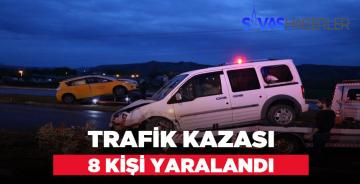 Sivas-Erzincan Kılavuz Kavşağında Trafik Kazası