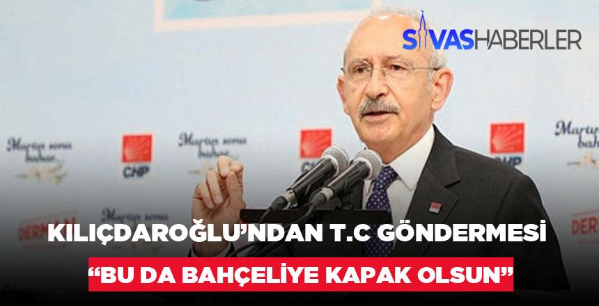 """Kılıçdaroğlu İBB Binasına T.C Eklenmesine Yorumu """"Bu da Bahçeli'ye kapak olsun."""""""